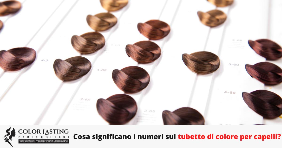 Cosa significano i numeri sul tubetto di colore per capelli?